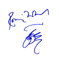 Rolling Stones' Ronnie Wood Autograph