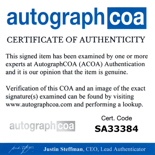 4x4 sized ACOA Certification Card