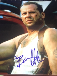 Authentic Bruce Willis  Autograph Exemplar