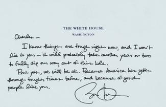 Authentic Barack Obama  Autograph Exemplar