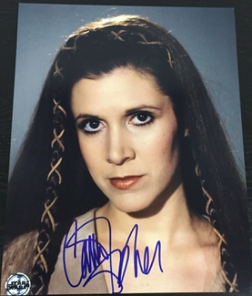 Authentic Carrie Fisher  Autograph Exemplar