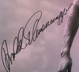 Authentic Arnold Schwarzenegger  Autograph Exemplar