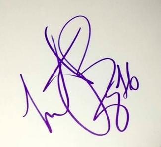 Authentic Charlie Watts  Autograph Exemplar