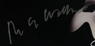 Authentic Andrew Lloyd Webber  Autograph Exemplar