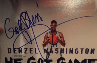 Authentic Denzel Washington  Autograph Exemplar