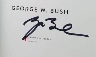 Authentic George H.W. Bush  Autograph Exemplar