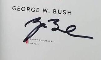 Authentic George H.W. Bush  Autograph Exemplar