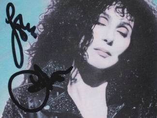Authentic Cher  Autograph Exemplar