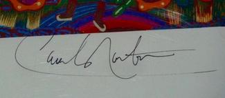 Authentic Carlos Santana  Autograph Exemplar