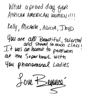 Authentic Beyonce  Autograph Exemplar