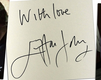 Authentic Elton John  Autograph Exemplar