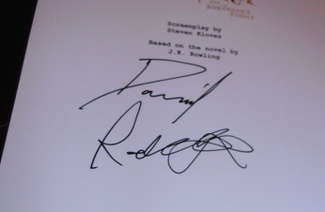Authentic Daniel Radcliffe  Autograph Exemplar