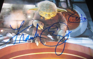 Authentic Frank Oz  Autograph Exemplar