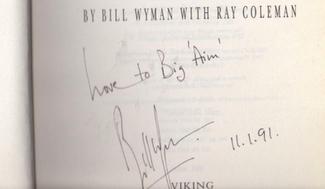 Authentic Bill Wyman  Autograph Exemplar