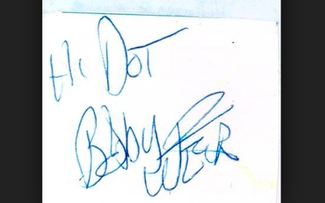 Authentic Bob Weir  Autograph Exemplar