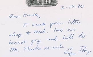 Authentic George W. Bush  Autograph Exemplar