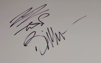 Authentic Billy Gibbons  Autograph Exemplar