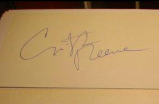 Authentic Christopher Reeve  Autograph Exemplar