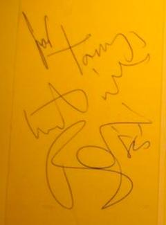 Authentic David Bowie  Autograph Exemplar