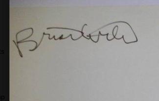 Authentic Brian Wilson  Autograph Exemplar