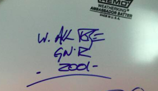 Authentic Axl Rose  Autograph Exemplar