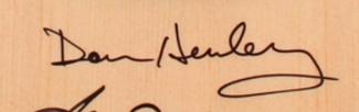 Authentic Don Henley  Autograph Exemplar
