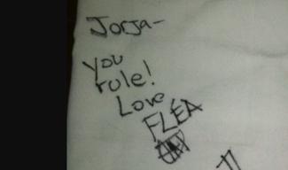 Authentic Flea  Autograph Exemplar