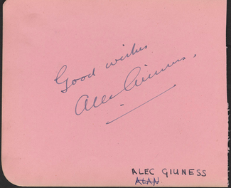 Authentic Alec Guinness  Autograph Exemplar