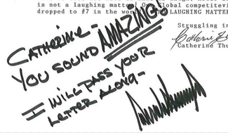 Authentic Donald Trump  Autograph Exemplar