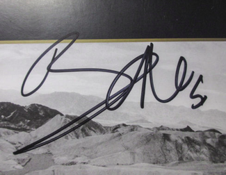 Authentic Bono  Autograph Exemplar