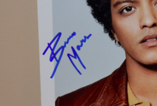 Authentic Bruno Mars  Autograph Exemplar