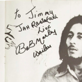 Authentic Bob Marley  Autograph Exemplar