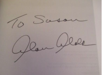 Authentic Alan Alda  Autograph Exemplar