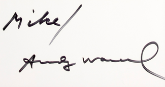 Authentic Andy Warhol  Autograph Exemplar