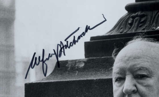 Authentic Alfred Hitchcock  Autograph Exemplar