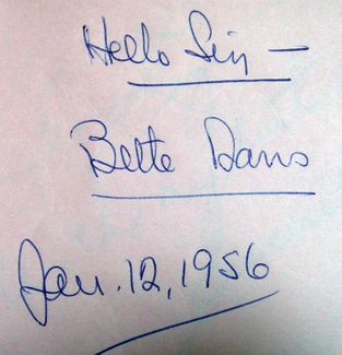 Authentic Bette Davis  Autograph Exemplar