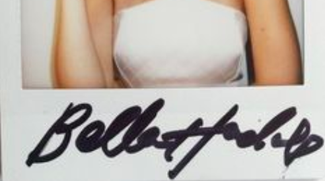 Authentic Bella Hadid  Autograph Exemplar