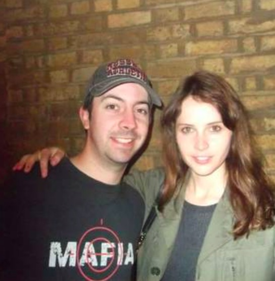 Luke with Star Wars actress Felicity Jones